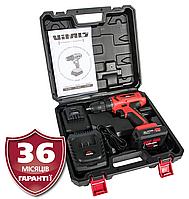 Дрель-шуруповерт аккумуляторная 14В, 2 скорости, Латвия Vitals AU 14/2AO