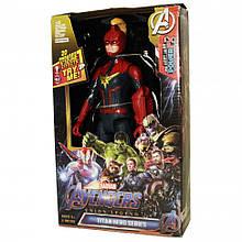 "Фигурка супергероя ""Мстители"" DY-H5826-33 29 см., подв. руки и ноги, звук, свет (Captain Marvel)"