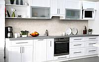 Скинали на кухню Zatarga «Светлый доломит» 600х2500 мм виниловая 3Д наклейка кухонный фартук самоклеящаяся