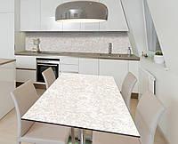 Наклейка 3Д виниловая на стол Zatarga «Светлый доломит» 650х1200 мм для домов, квартир, столов, кофейн, кафе