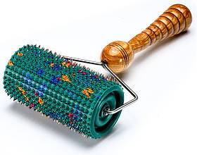 Аплікатор Ляпко Валик Великий М 5,0 Ag - ручний голчастий масажер від болю, для схуднення Зелений
