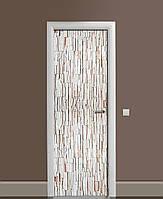 Наклейка на дверь Zatarga «Декоративный кирпичик» 650х2000 мм виниловая 3Д наклейка декор самоклеящаяся