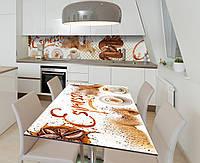 Наклейка 3Д виниловая на стол Zatarga «Эспрессо» 600х1200 мм для домов, квартир, столов, кофейн, кафе