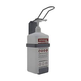 Локтевой дозатор c антисептиком Септоплюс-ультра 1л SK EDW1Y WS серый