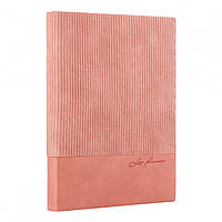 Щоденник А5 Velvet недат м'який 352 стр рожевий Leo Planer