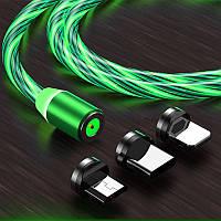 USB Шнур гирлянда для мобильного телефона светящийся 1м, фото 1