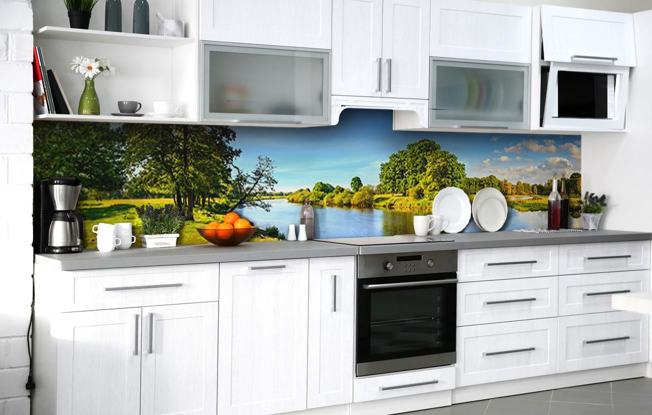 Скиналі на кухню Zatarga «Лісовий затишок» 600х2500 мм вінілова 3Д Наліпка кухонний фартух самоклеюча