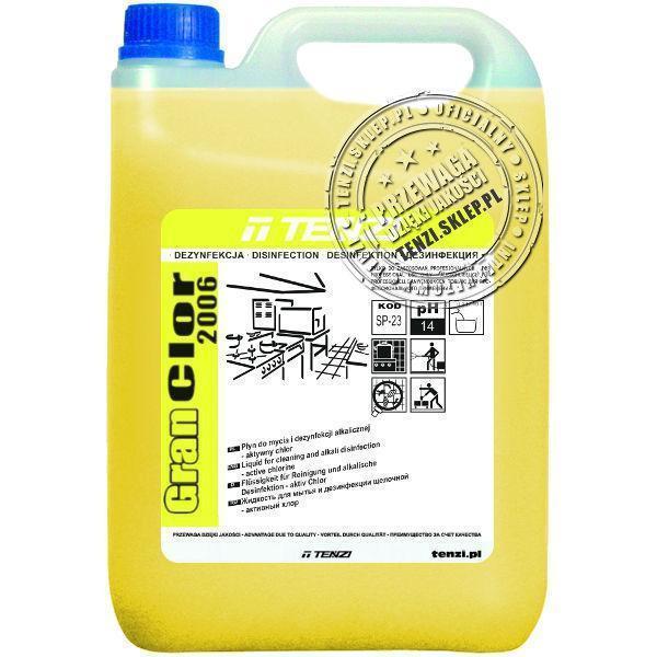 Щелочное средство для мытья и дезинфекции активный хлор 5л Gran Clor 2006 Tenzi