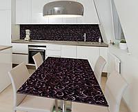 Наклейка 3Д виниловая на стол Zatarga «Кованые двери» 650х1200 мм для домов, квартир, столов, кофейн, кафе