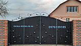 Ворота закрытые с калиткой в воротах 5552, фото 2