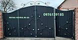 Ворота закрытые с калиткой в воротах 5552, фото 3