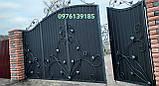 Ворота закрытые с калиткой в воротах 5552, фото 4