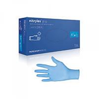 Перчатки нитриловые текстурированные нестерильные неприпудренные 100 шт / пач Mercator gloves nitril