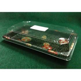 Контейнер для суши прямоугольный 22х14х4см с крышкой, 50 шт/уп