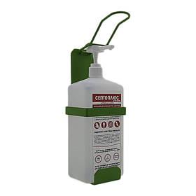 Локтевой дозатор c антисептиком Септоплюс-ультра 1л SK EDW1К WS зелёный RAL 6018