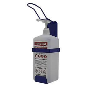 Локтевой дозатор c антисептиком Септоплюс-ультра 1л SK EDW1К WS синий RAL 5002
