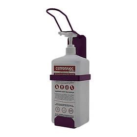 Ліктьовий дозатор c антисептиком Септоплюс-ультра 1л SK EDW1К WS фіолетовий RAL 4006