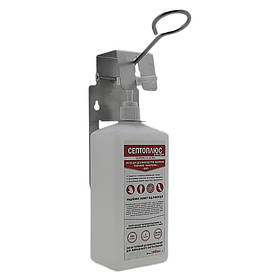 Локтевой дозатор c антисептиком Септоплюс-ультра SK EDW2K Mini+ 1 литр серый