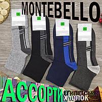 Шкарпетки чоловічі демісезонні середні Montebello 41-44р асорті 30025114