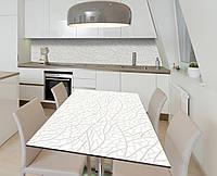 Наклейка 3Д виниловая на стол Zatarga «Стеклянная паутина» 650х1200 мм для домов, квартир, столов, кофейн,