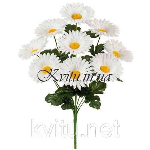 Искусственные цветы букет ромашек белых, 40см