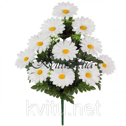 Искусственные цветы букет ромашек белых, 55см