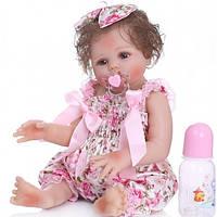 Силиконовая коллекционная кукла Reborn Doll Девочка Бэлла 47 см (204)