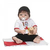 Силиконовая коллекционная кукла Reborn Doll Мальчик Яша 57 см (210)