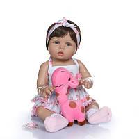 Силиконовая коллекционная кукла Reborn Doll Девочка Регина 47 см (211)