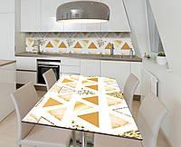Наліпка 3Д вінілова на стіл Zatarga «Трикутна фольга» 650х1200 мм для будинків, квартир, столів, кофеєнь,