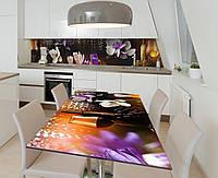 Наклейка 3Д виниловая на стол Zatarga «Шафран и вино» 600х1200 мм для домов, квартир, столов, кофейн, кафе