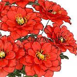 Искусственные цветы букет георгины крупной, 54см, фото 2