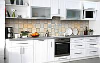Скинали на кухню Zatarga «Патина зеркальной плитки» 600х2500 мм виниловая 3Д наклейка кухонный фартук