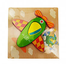 Деревянная игрушка Пазлы MD 0904 (Самолет)