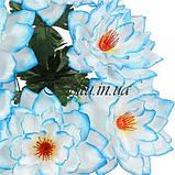 Искусственные цветы букет лотос атлас XL, 58см, фото 2