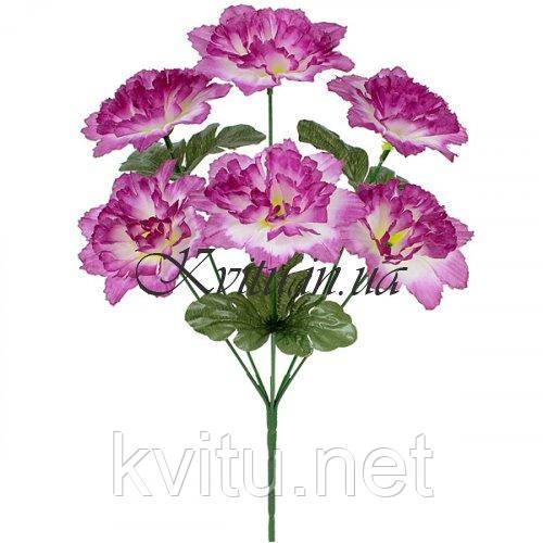 Искусственные цветы букет  гвоздик, 36см