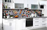 Скинали на кухню Zatarga «Суши сет» 600х2500 мм виниловая 3Д наклейка кухонный фартук самоклеящаяся