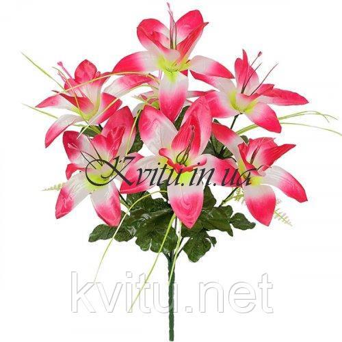 Искусственные цветы букет атласных орхидей, 39см