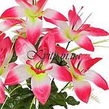 Искусственные цветы букет атласных орхидей, 39см, фото 2