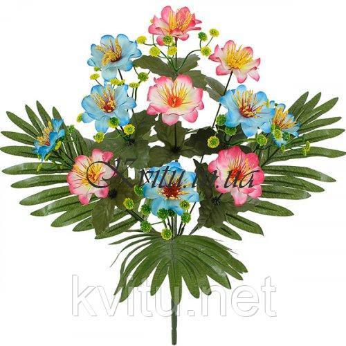 Искусственные цветы букет сакуры двухцветный, 46см