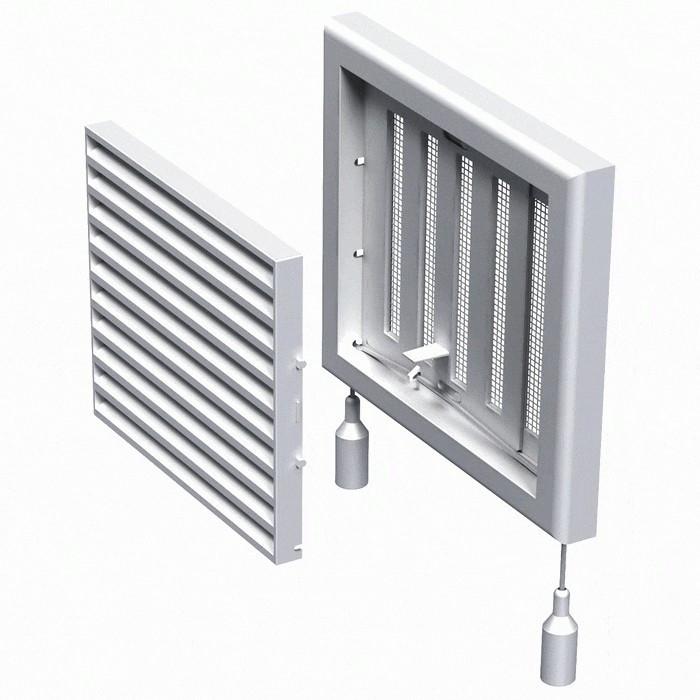 Вентиляційна решітка пластикова МВ 120 ВРс