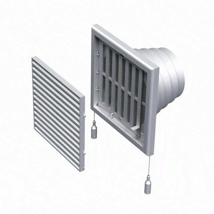 Вентиляційна решітка пластикова МВ 120 ВНРс