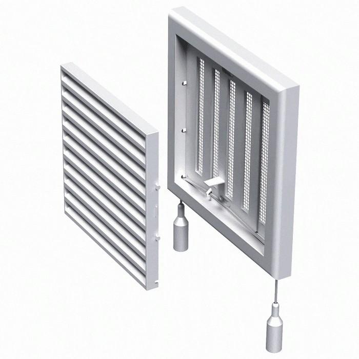 Решітка вентиляційна пластикова МВ 121 Рс