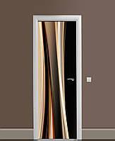 Наклейка на дверь Zatarga «Волны безумия» 650х2000 мм виниловая 3Д наклейка декор самоклеящаяся