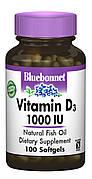 Витамин D3 1000IU, Bluebonnet Nutrition, 100 желатиновых капсул