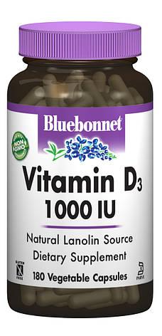 Витамин D3 1000IU, Bluebonnet Nutrition, 180 вегетарианских капсул, фото 2