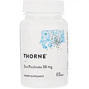 Цинк Пиколинат, Zinc Picolinate, Thorne Research, 30 мг, 60 капсул