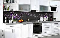 Скинали на кухню Zatarga «Букет вельветовых тюльпанов» 600х2500 мм виниловая 3Д наклейка кухонный фартук, фото 1