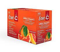 Витаминный Напиток для Повышения Иммунитета, Мандарин и Грейпфрут, Vitamin C, Ener-C, 30 пакетиков
