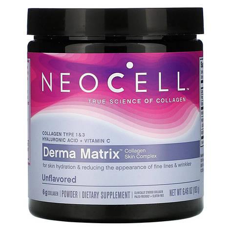 Коллагеновый Комплекс для Кожи в Порошке, Derma Matrix, NeoCell, 6.46 унции (183 гр), фото 2